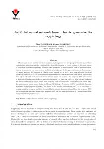 Artificial neural network based chaotic generator for ... - Tubitak Journals