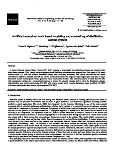 Artificial neural network based modeling and ... - Semantic Scholar