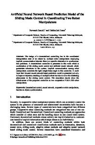 Artificial Neural Network Based Prediction Model of the Sliding Mode ...