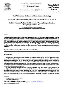Artificial neural network identification model of ... - ScienceDirect.com