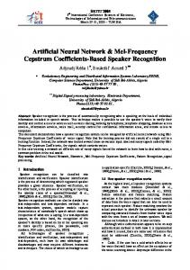 Artificial Neural Network & Mel-Frequency Cepstrum Coefficients ...