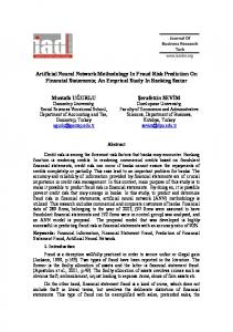 Artificial Neural Network Methodology In Fraud Risk Prediction On ...