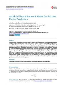 Artificial Neural Network Model for Friction Factor Prediction - Scientific ...