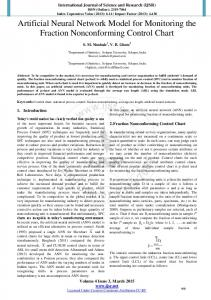 Artificial Neural Network Model for Monitoring the Fraction ...