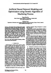 Artificial Neural Network Modeling and Optimization using Genetic