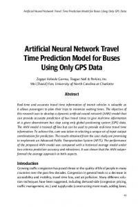 Artificial Neural Network Travel Time Prediction Model for Buses Using ...
