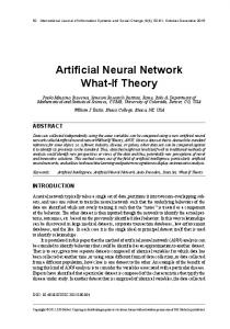 Artificial Neural Network What-If Theory