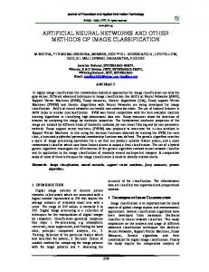 artificial neural networks and other methods of image classification