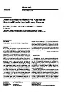 Artificial Neural Networks Applied to Survival Prediction in Breast Cancer