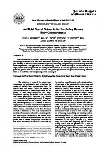 Artificial Neural Networks for Predicting Human Body ...