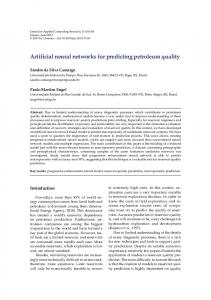 Artificial neural networks for predicting petroleum quality