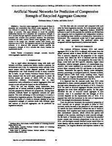 Artificial Neural Networks for Prediction of Compressive Strength of ...
