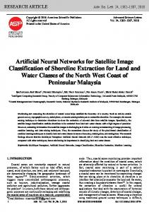 Artificial Neural Networks for Satellite Image