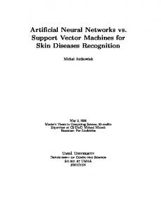 Artificial Neural Networks vs. Support Vector Machines for Skin ...