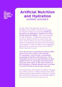 Artificial Nutrition and Hydration - Milton Keynes CCG