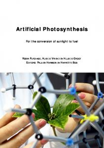 Artificial Photosynthesis - Groene Grondstoffen