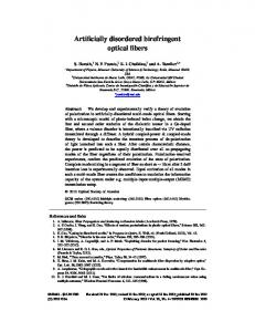 Artificially disordered birefringent optical fibers - OSA Publishing
