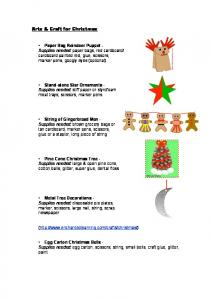 Arts & Craft for Christmas - The 12 Do's of Christmas