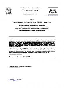 as a solvent for CO2 capture from various industries - CyberLeninka