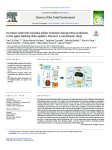 As release under the microbial sulfate reduction