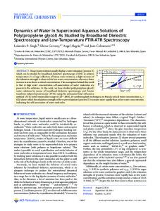 As Studied by Broadband Dielectric Spectroscopy and