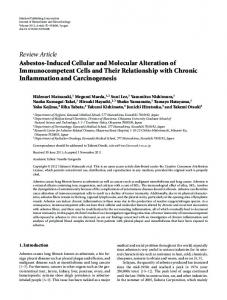 Asbestos-Induced Cellular and Molecular Alteration of