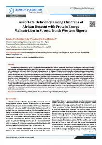 Ascorbate Deficiency among Childrens of ... - Crimson Publishers