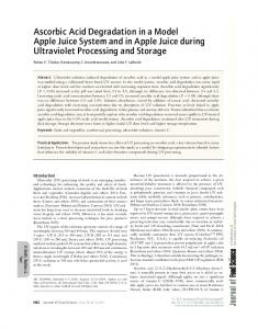 Ascorbic Acid Degradation in a Model Apple ... - Wiley Online Library