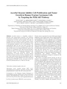 Ascorbyl Stearate Inhibits Cell Proliferation and