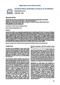 asenapine maleate loaded solid lipid nanoparticles for oral delivery