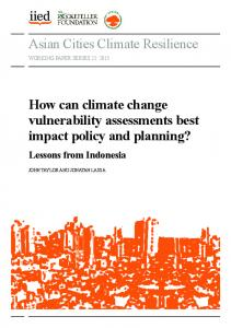 Asian Cities Climate Resilience How can climate change ... - iied iied