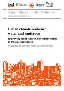 Asian Cities Climate Resilience Urban climate resilience ... - ICCCAD