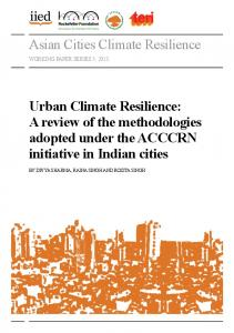 Asian Cities Climate Resilience Urban Climate Resilience - iied iied