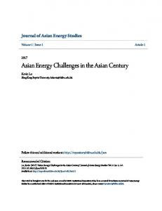Asian Energy Challenges in the Asian Century - HKBU Institutional ...