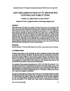 asic implementation of i2c master bus controller ... - Aircc Digital Library