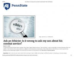 Ask an Ethicist: Is it wrong to ask my son about his ...