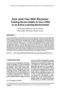 ask and You will receive - Communication Science RWTH Aachen