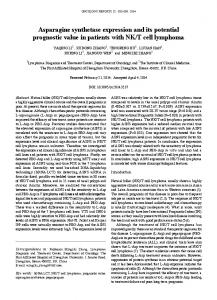 Asparagine synthetase expression and its potential prognostic value ...