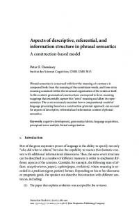 Aspects of descriptive, referential, and information ... - CiteSeerX