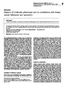 Aspects of molecular phenotype and its correlations with breast cancer ...