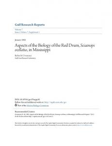 Aspects of the Biology of the Red Drum, Sciaenops ...