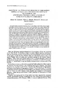 aspects of the population biology of the marine ... - Richard C. Brusca