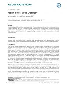 Aspirin-Induced Acute Liver Injury - ACG Case Reports