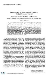 Assay for Lipid Peroxides in Animal Tissues by ...