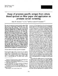 Assay of prostate-specific antigen from whole ... - Clinical Chemistry