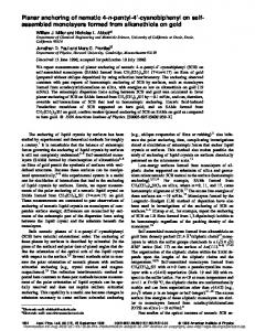 assembled monolayers formed from alkanethiols on ...