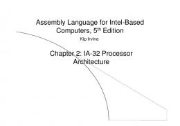 Assembly Language for Intel Assembly Language for Intel