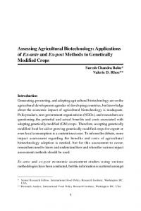 Assessing Agricultural Biotechnology