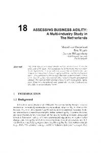 ASSESSING BUSINESS AGILITY - Springer Link