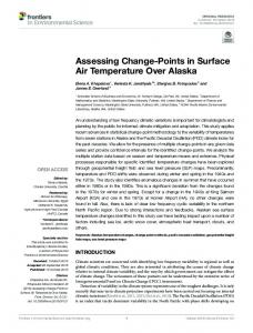 Assessing Change-Points in Surface Air Temperature Over Alaska